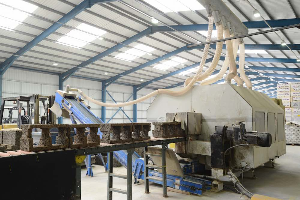 Photo of Durisol's Factory equipment