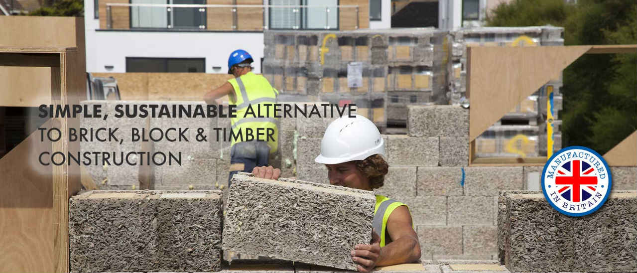 Simple, sustainable alternative to brick, block & timber construction