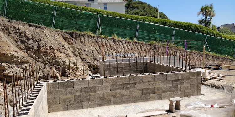 Durisol for retaining walls example 1
